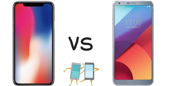 iPhone x vs LG G6 comparativa
