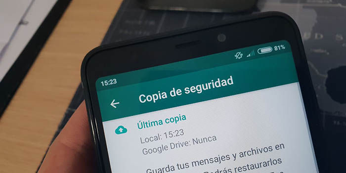 importar copia seguridad WhatsApp