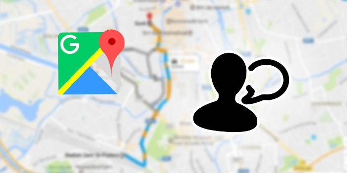 indicaciones google maps persona