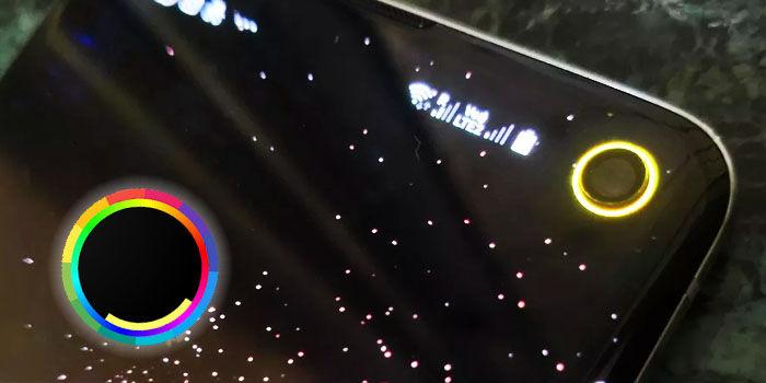 indicador bateria alrededor camara frontal galaxy s10