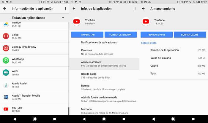 informacion de una aplicaicon en Android