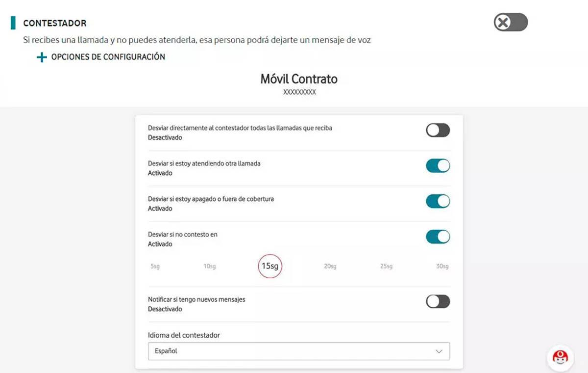 inhabilitar buzón de voz vodafone página web