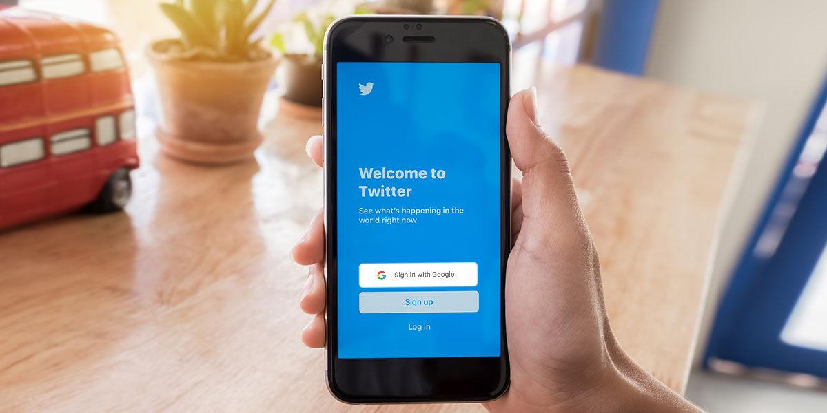 inicio de sesión twitter API Google