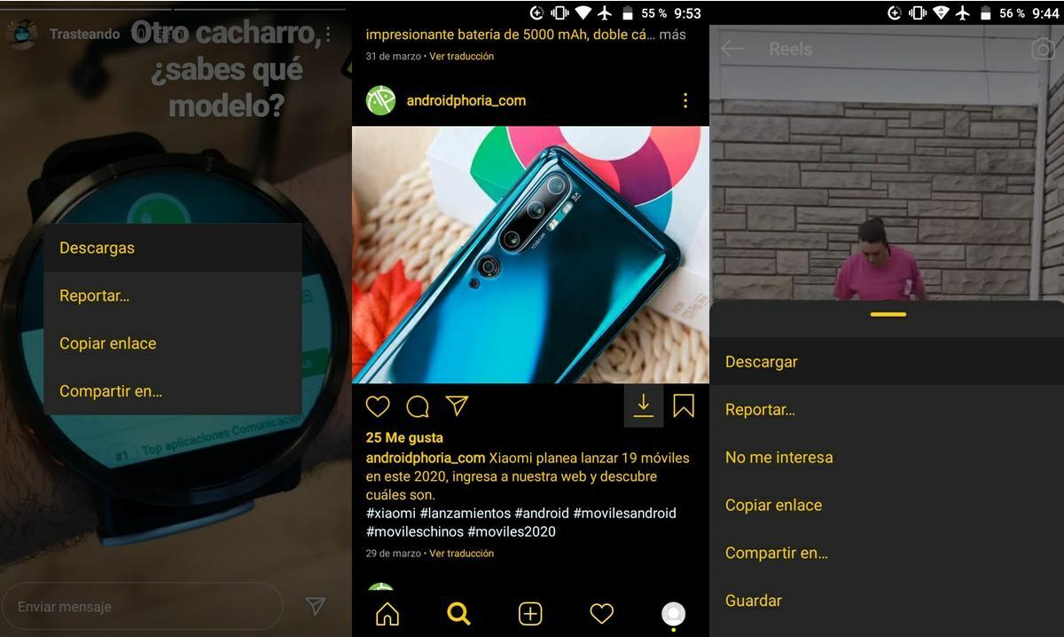 instaero mod instagram permite descargar fotos videos reels igtv