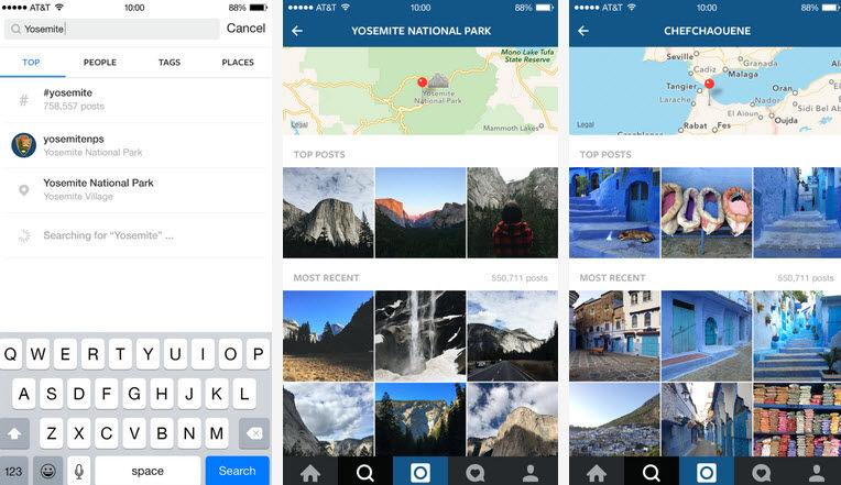 instagram 7.0 busqueda avanzada y fotos trending1