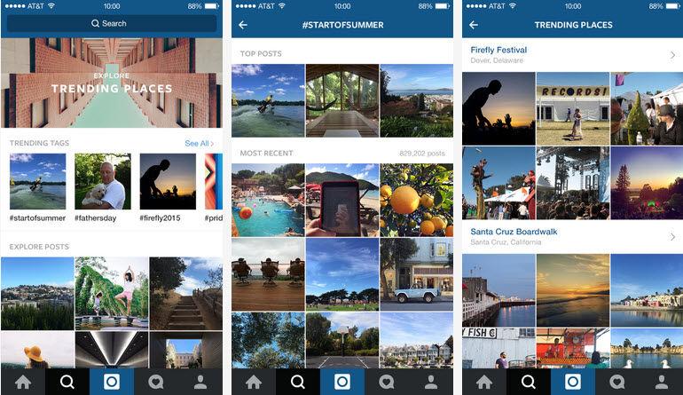 instagram 7.0 busqueda avanzada y fotos trending2