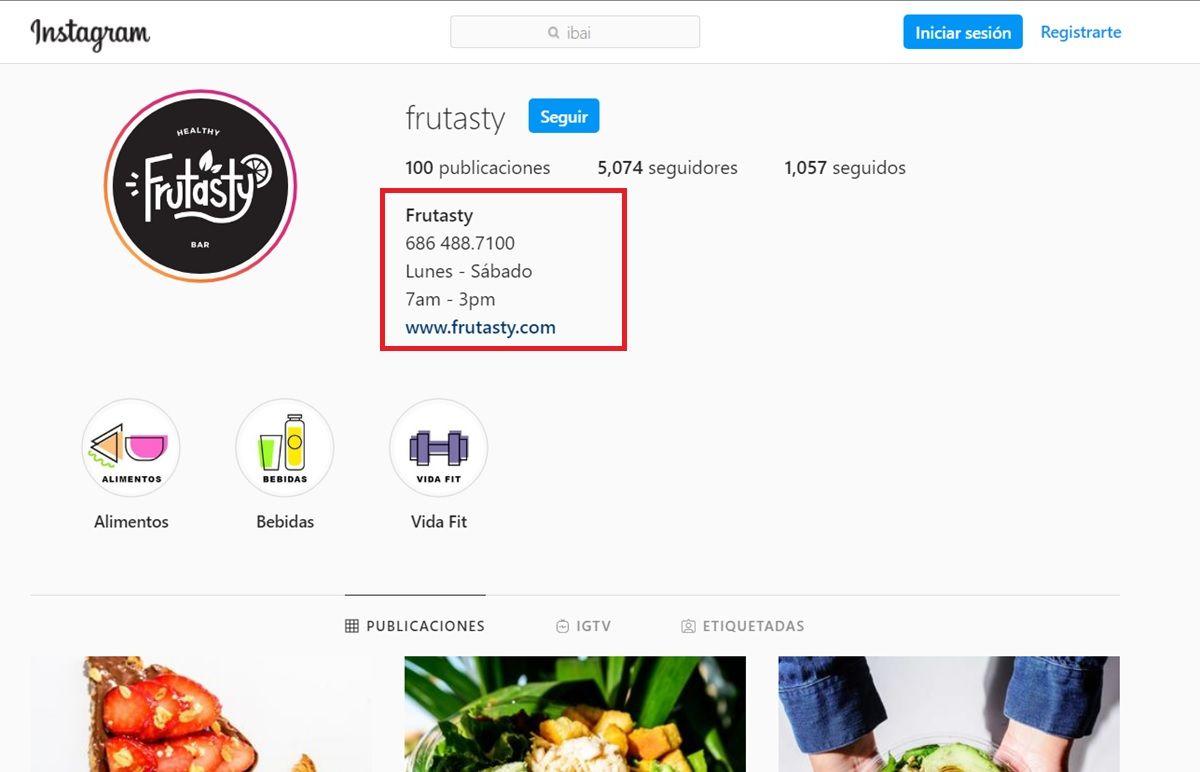 instagram numero de telefono en perfil