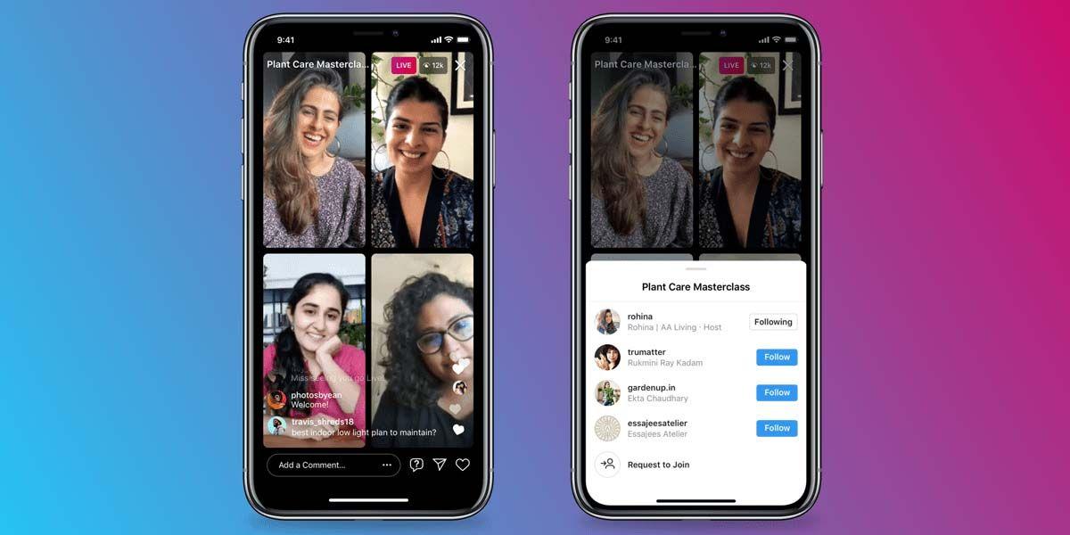 instagram ya permite hacer directos de 4 personas