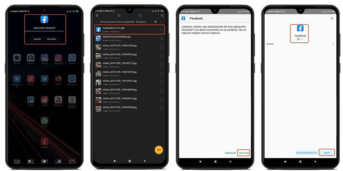 instalacion Facebook LC Android