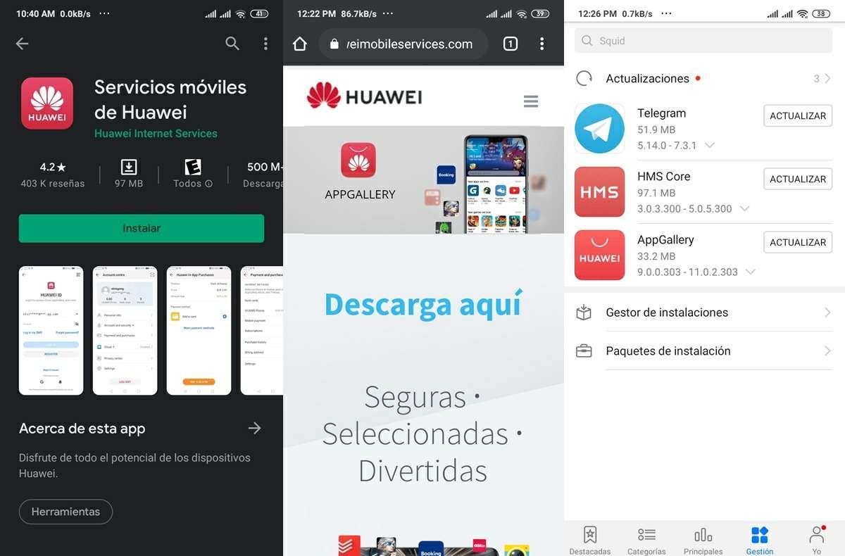 instalando los hms huawei mobile services en android