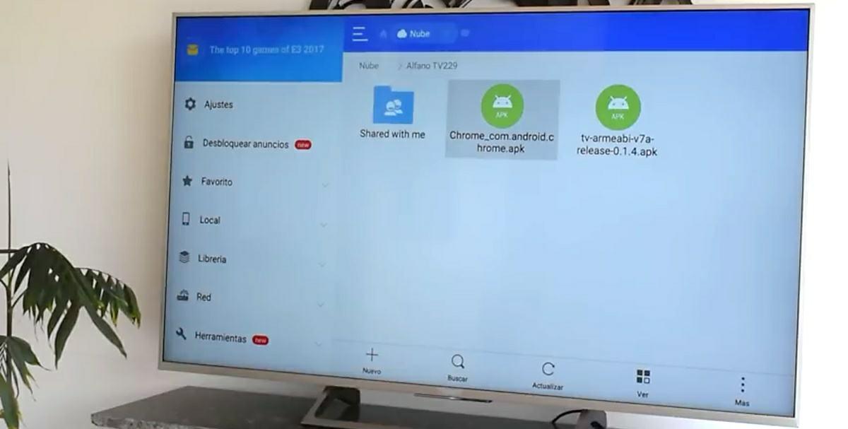 instalar APK Chrome Android TV