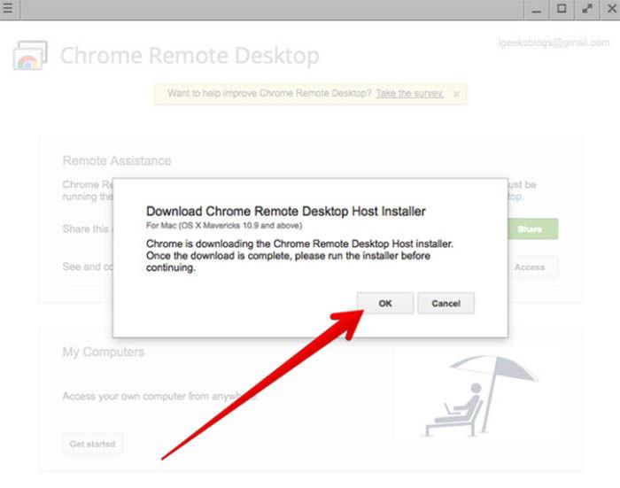 instalar Chrome Remote Desktop