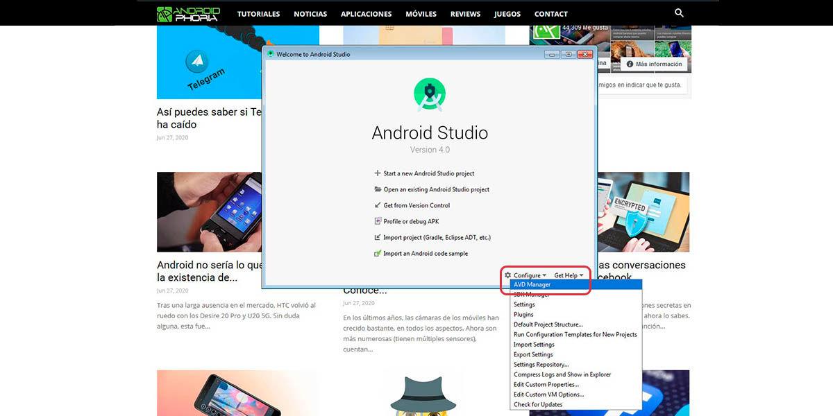 instalar android 11 en tu ordenador con AVD Manager Android Studio