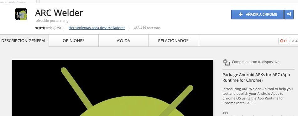instalar aplicaciones android en chromebook