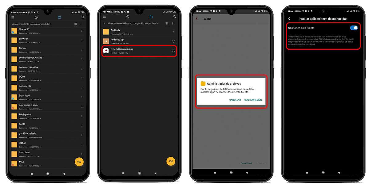 instalar aplicaciones externas administrador archivos android 10