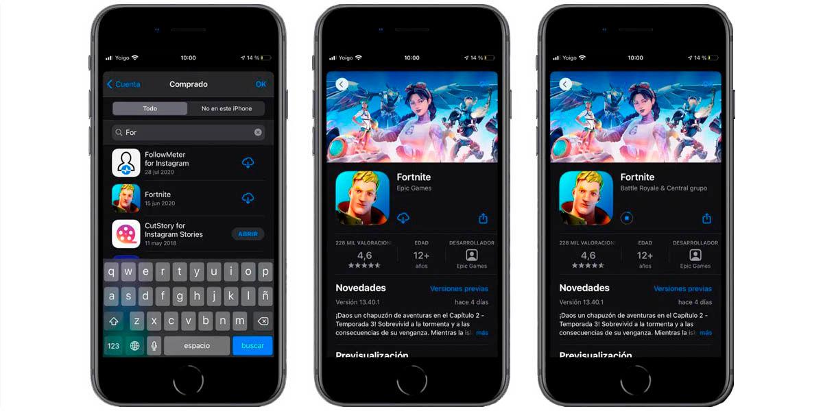 instalar fornite iphone ipad ios