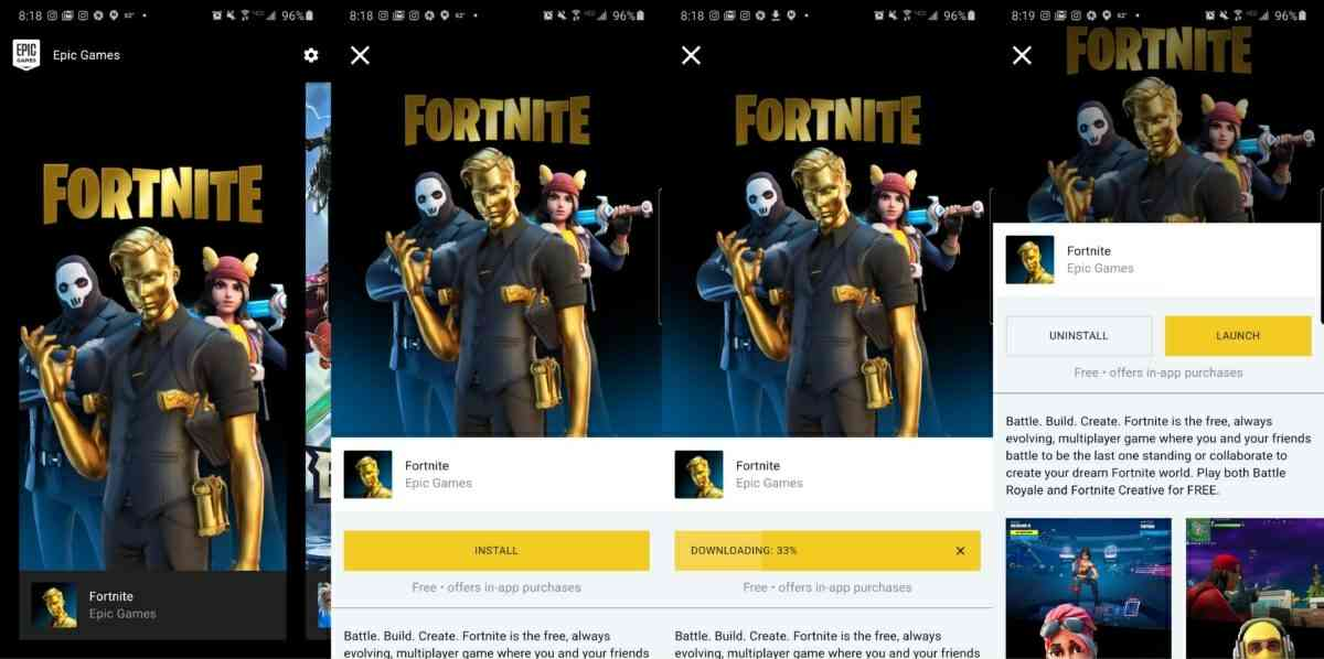 instalar fortnite en android desde epic games app