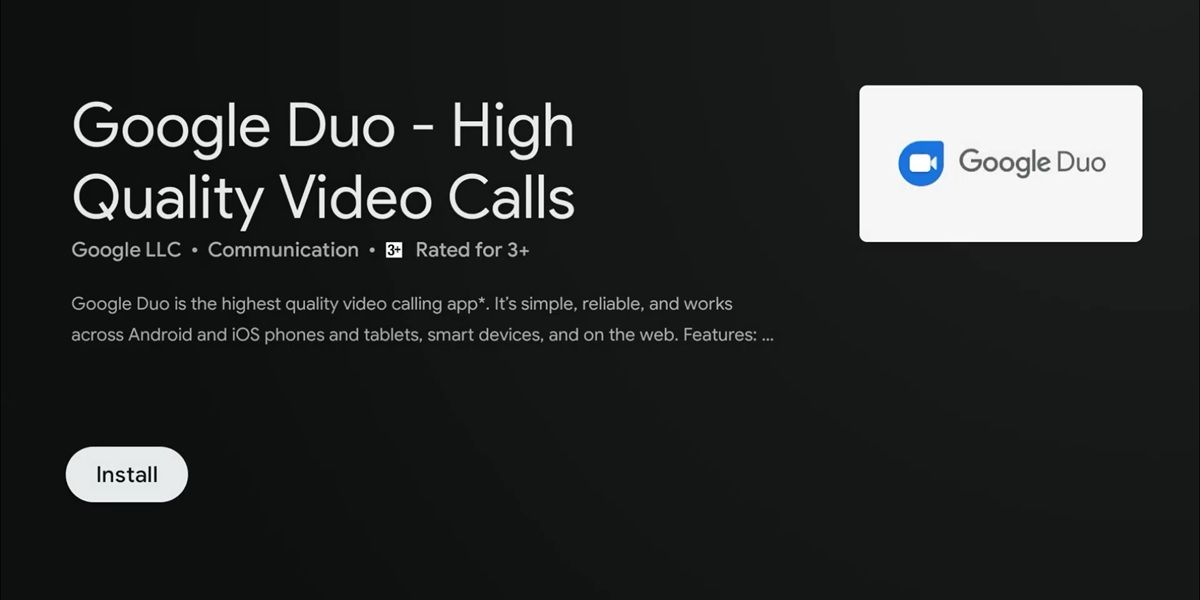 instalar google duo android tv