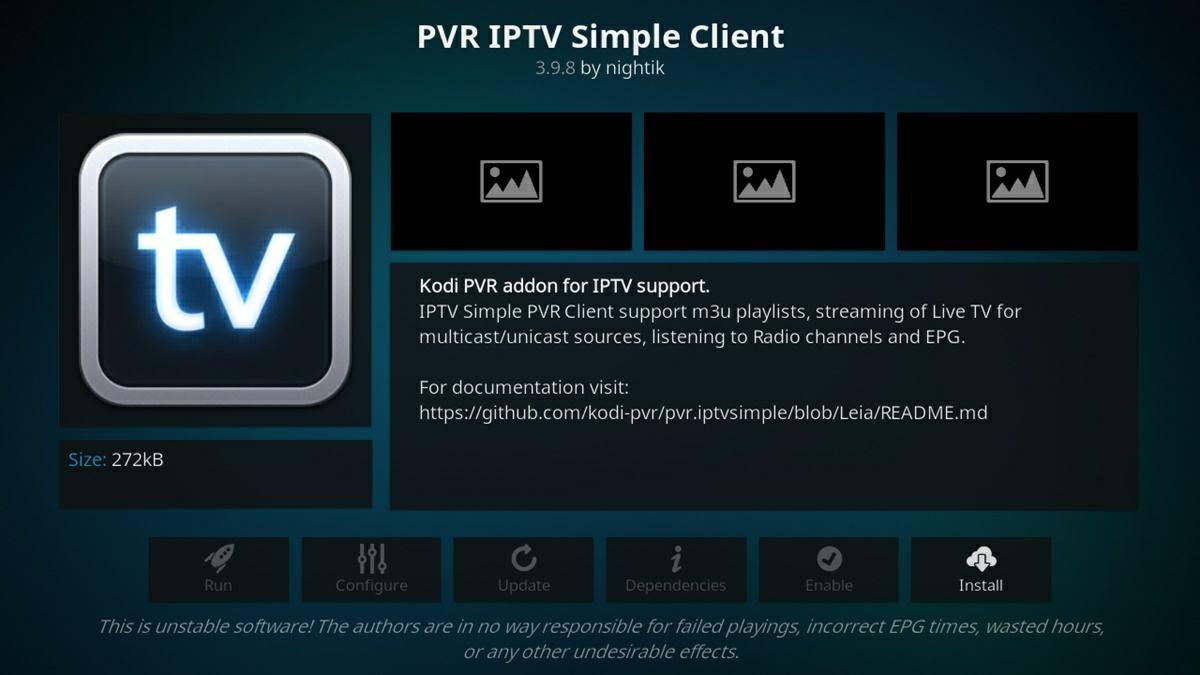 instalar pvr iptv client simple en kodi