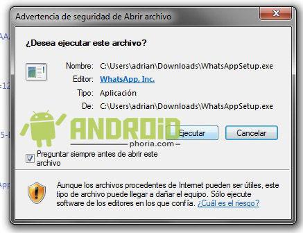 instalar whatsapp en windows