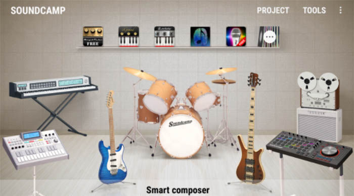 instrumentos de Soundcamp