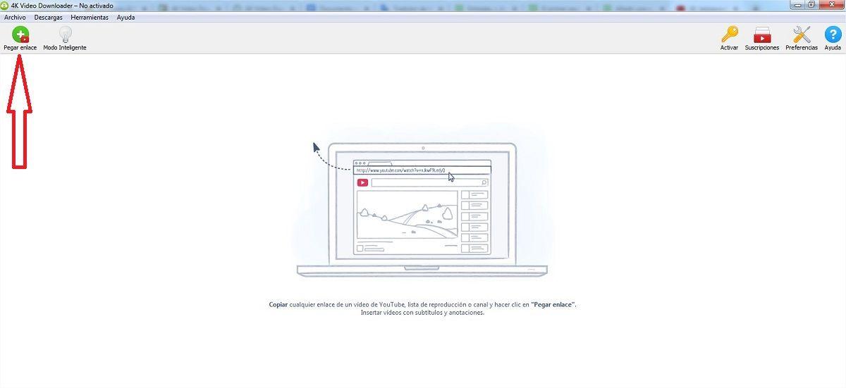 interfaz 4k video downloader