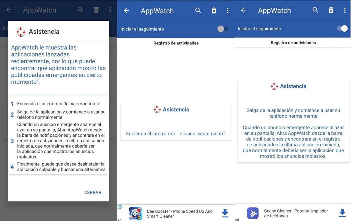 interfaz AppWatch