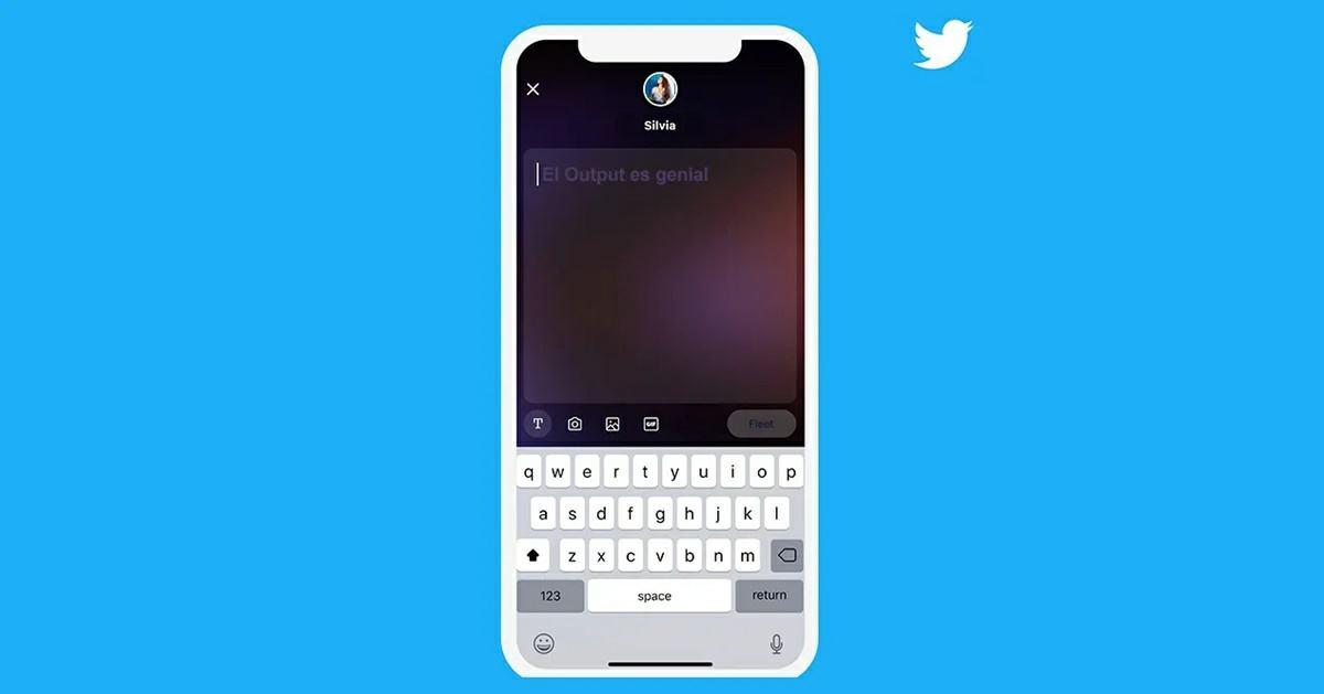 interfaz fleets twitter
