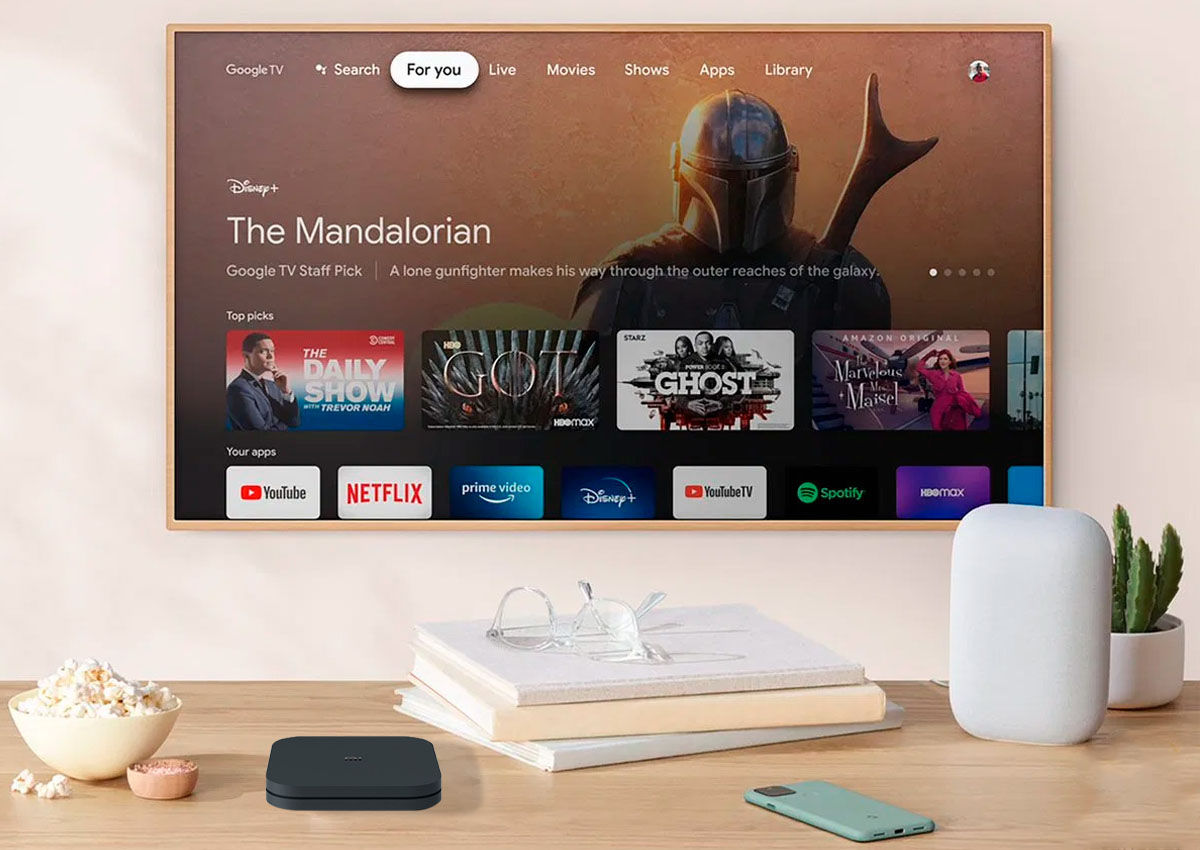 interfaz google tv en Xiaomi Mi Box