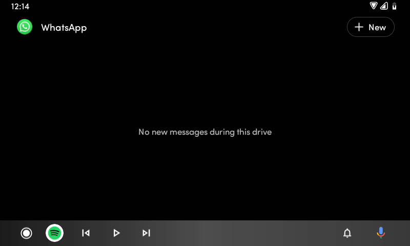 interfaz mensajería android auto 6.0
