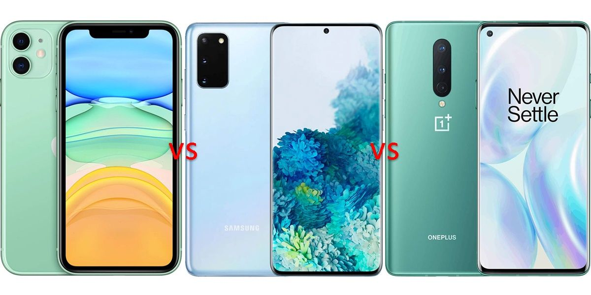 iphone 12 vs galaxy s20 vs oneplus 8