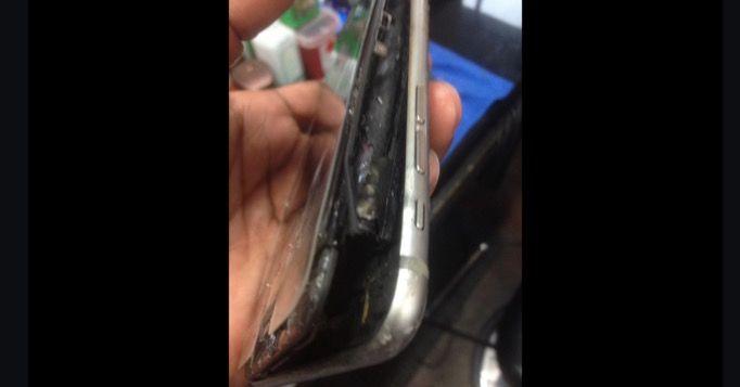 iphone 6s plus explota en cama