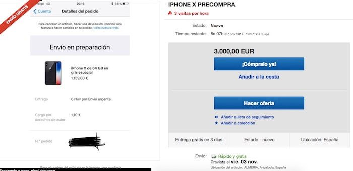 iphone x 3000 euros ebay