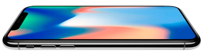 iPhone X horizontal