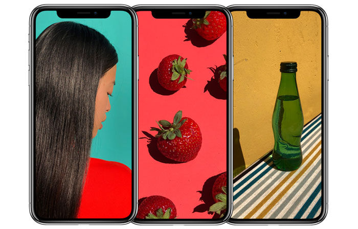 iPhone X pantalla colores