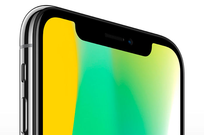 iPhone X pantalla superior