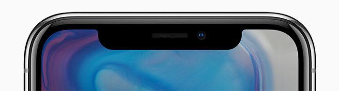 iPhone X parte superior