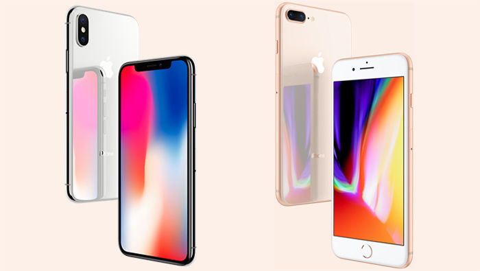iPhone X vs iPhone 8 Plus frontal trasera