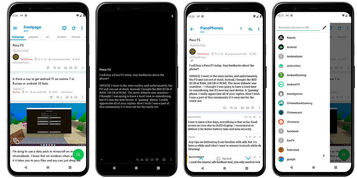 joey for reddit cliente más personalizable android