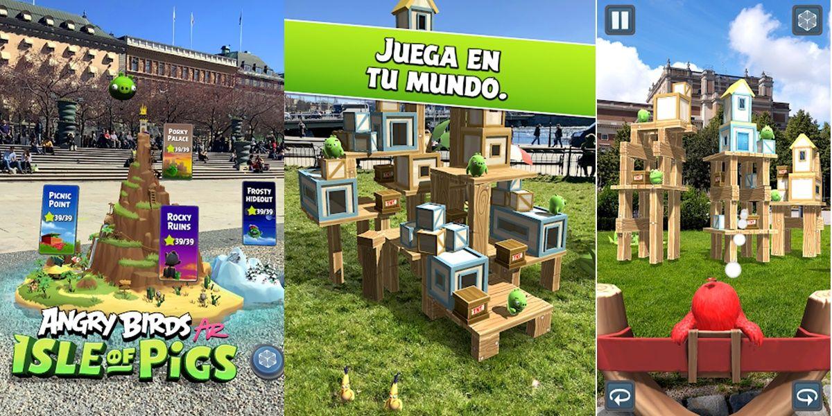 juego angry birds realidad aumentada