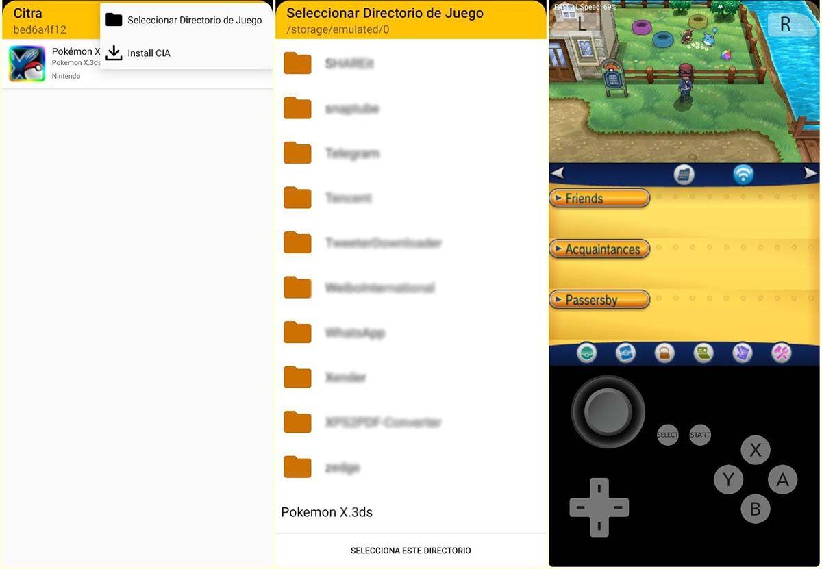 juegos de nintendo 3ds en android con citra
