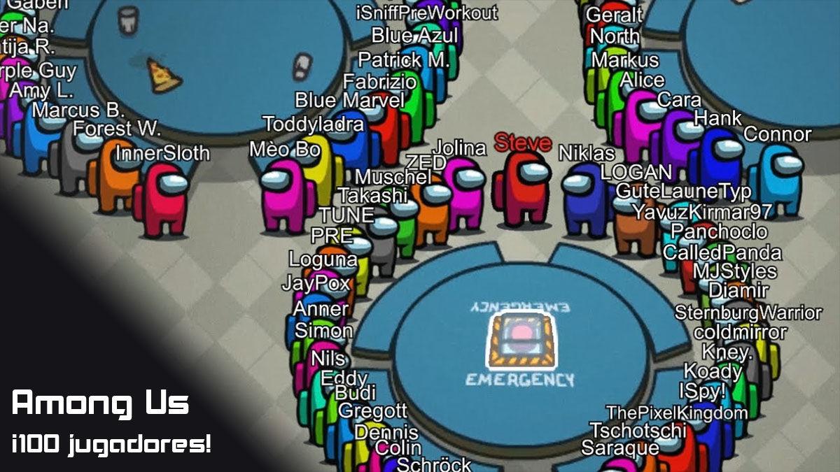 jugar among us 100 personas