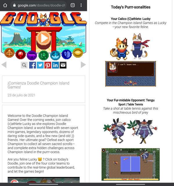 Jugar a Doodle de Google Juegos Olímpicos