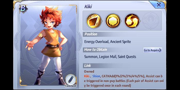 kiki saint seiya awakening habilidades