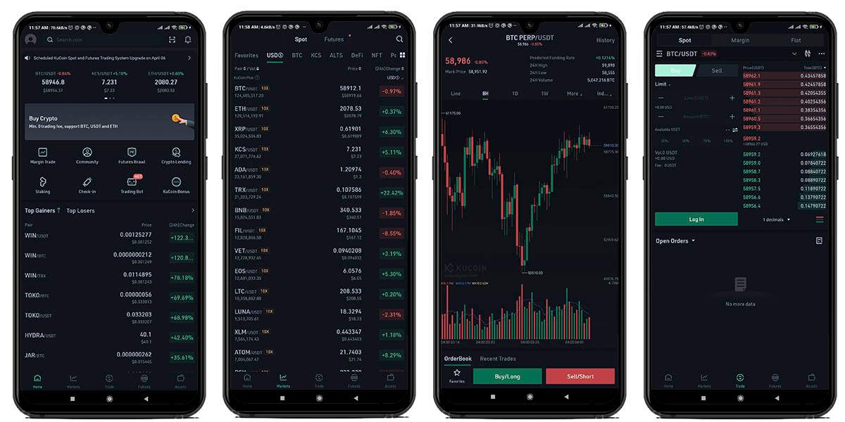 kucoin mejor app invertir criptomonedas móvil android e ios