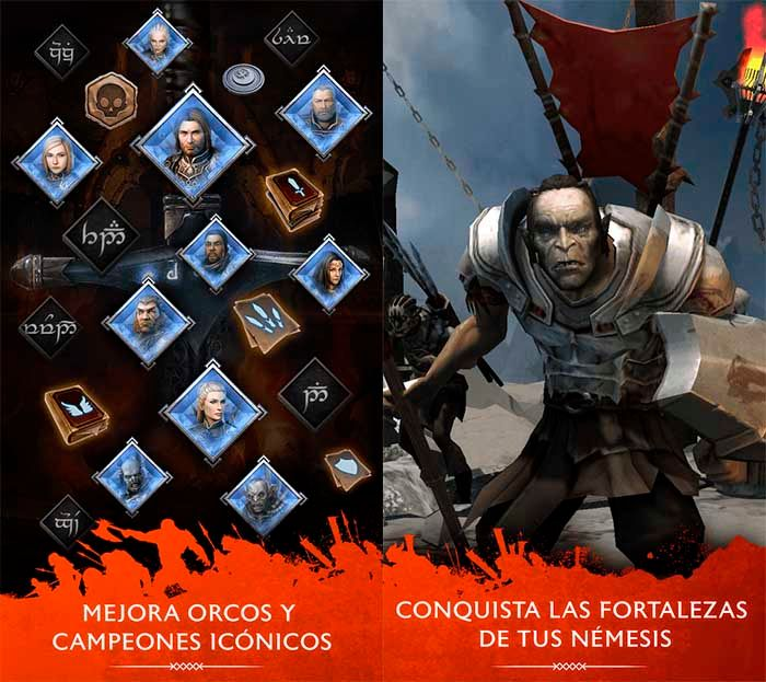 La Tierra Media: Sombras de Guerra capturas Google Play 2