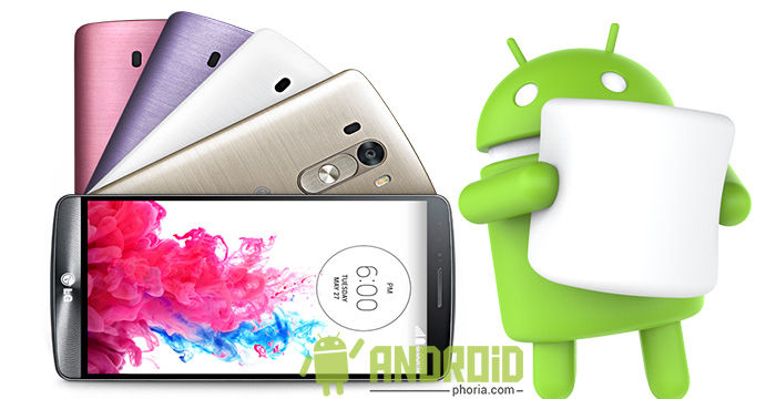 lanzamiento android 6.0 lg g3