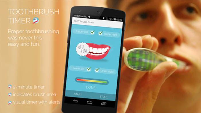 lavarse los dientes en android