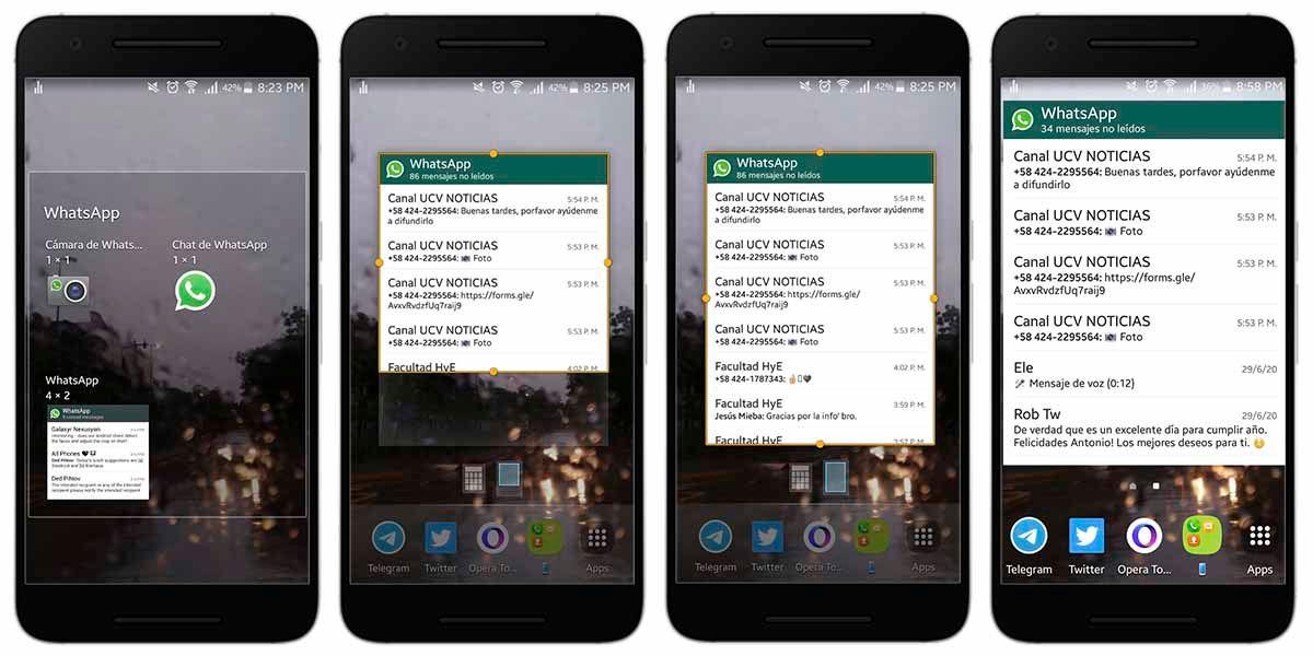 Leer los Whatsapp en Android sin abrirlos