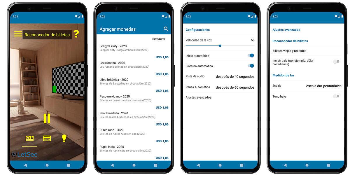 letseeapp reconocer billetes cámara móvil